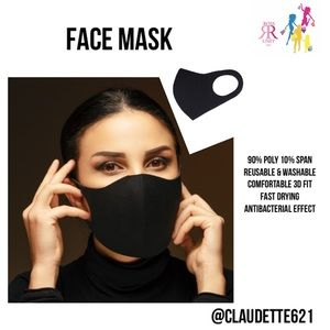 Accessories - Fashion Face Mask - Black Solid